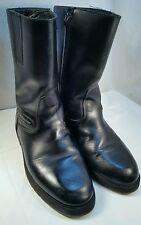 CRUISERWORKS Black Leather Mens 11 M Side Zip Motorcycle Riding Boots CANADA GUC