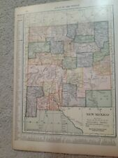 Antique Map of New Mexico and Arizona is on the Other Side/1910/Hammond