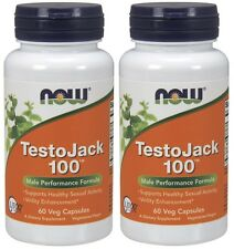 Now Foods TestoJack 100, 60 Veg Capsules, Male Performance Formula, 2 Pack