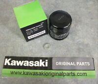 Kawasaki Genuine Oil Filter & sump washer, Part number 16097-0008/92065-097