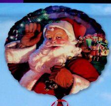 """18"""" Natale Xmas Foil Balloon-Jolly Babbo Natale con Sacco"""
