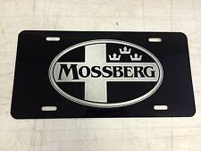 MOSSBERG Car Tag Diamond Etched on Aluminum License Plate