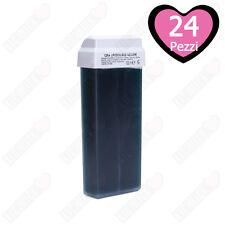 24 Ricariche Rullo Cera Depilatoria Depilia Cartuccia Roll-on Ceretta 100 ml