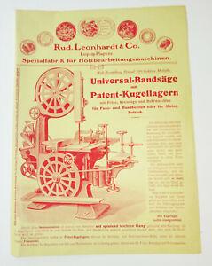Publicidad Folleto Leonhardt & Co Leipzig Plagwitz Sierra 1920er 1930er Presión
