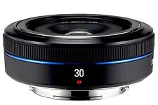 Samsung  30mm F2.0 Fixed Focal Length Pancake Lens S30NB NX - Black