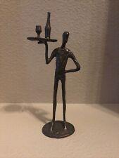 "Bronze Statue Maître D' 11"" Tall"