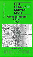 OLD ORDNANCE SURVEY MAP Great Yarmouth & District 1908: One Inch Sheet 162