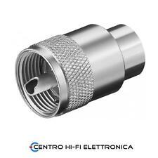 Connettore Spina PL259 UHF Amphenol x RG8 - RG213 per cavo max 10 mm