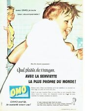 Publicité Advertising 097  1957  la Lessive  OMO  serviette de bain