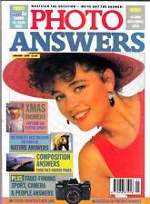 Photo Answers magazine with Praktica BMS  &  6x 4.5cm articles   January   1990