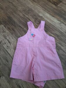 Baby girls pink dungarees age 6 - 9 months George Asda dungaree cute stuff