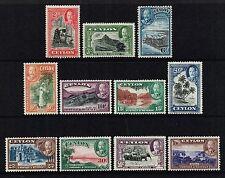 Ceylon 1935-36 King George V set to 1r., MH (SG368/378)