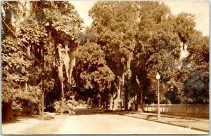 NEW IBERIA, Louisiana RPPC Real Photo Postcard Residential Street View c1930s