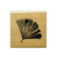 GINGKO LEAF mounted rubber stamp, Japanese, Chinese, nature, Asian #12
