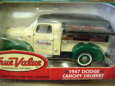 1999 Ertl LE Die-Cast Metal Bank True Value 1947 Dodge Canopy Delivery 1/25th