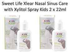 2 x 22ml spray Sweet Life Xlear Nasal Sinus Care CHILDREN