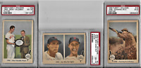 Ted Williams Authentic PSA Graded 1959 Fleer 3 Card Lot
