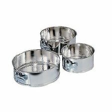 Fox Run 3 PC Mini Springform Cake Pan Set Baking Kitchen Bakeware Cheesecake
