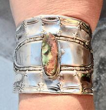 Tiffany Sterling Silver Cuff Bracelet Genuine Green Royston Turquoise Arizona