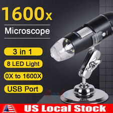 3in1 8led 1600x 10mp Usb Digital Microscope Endoscope Magnifier Camerastand