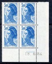 TIMBRE FRANCE NEUF COIN DATE N° 2320 ** EN BLOC DE 4 /////  18/06/1984 COTE 13 €