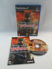 Return to castle Wolfenstein Ps2 Ottima 1a Stampa Inglese Con Manuale
