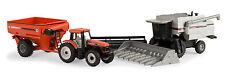 1:64 ERTL HARVESTING SET *GLEANER C62 Combine DT200 Tractor J&M 875 Grain Cart*