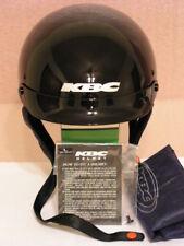 KBC DRIFTER HALF HELMET w/VISOR - GLOSS BACK - LARGE (59-60cm)