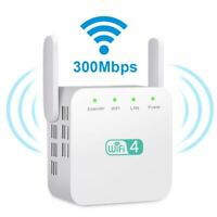 300Mbps WiFi Extender Internet Booster Network Router Wireless Signal Repeater