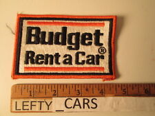 BUDGET RENT A CAR EMBROIDERED Vintage CLOTH PATCH - SEW ON TYPE
