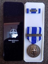 GENUINE NATO MEDAL FOR ISAF AFGHANISTAN IN NAMED BOX OF ISSUE POST JAN 2011
