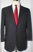 Belvest for Davide Cenci Solid Gray 150s Wool Side Vented Suit 40-41 R 35 29