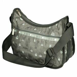 LeSportsac Totoro gray CLASSIC HOBO Shoulder Bag Purse Limited Japan Gift M4571
