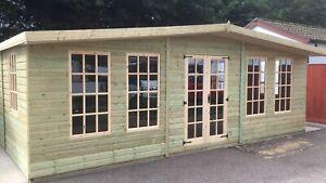 24x14 22mm Gloucestershire Georgian summerhouse garden shed we do all sizes