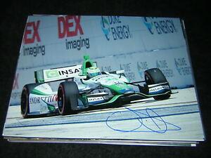 Indycar CARLOS MUNOZ signed St. Pete Grand Prix 8x10! +COA