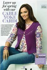 ~ Knitting Pattern For Lady's Cabled Yoke Cardigan ~