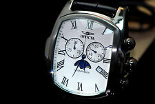 Invicta Grand Lupah Moon Phase Quartz Chronograph w 5 Leather Strap Special EDT