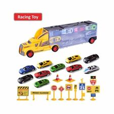 High Quality Colourful 9 In 1 Truck with Cabinet and Cars Transport Toys Kids
