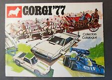 1977 CORGI Diecast TOYS CATALOG England  nm/ mint James Bond Superman etc.