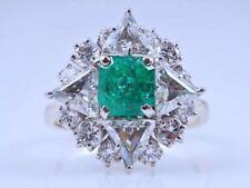 Diamant Echtschmuck mit Smaragd 52 (16,5 mm Ø)