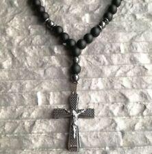Modeschmuck-Halsketten & -Anhänger aus Edelstein und Edelstahl Kreuz