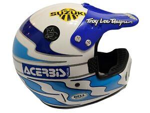 "VTG BELL MOTO-4 Rick Johnson  7 5/8"" XL 80s RJ Motocross Suzuki Troy Lee Designs"