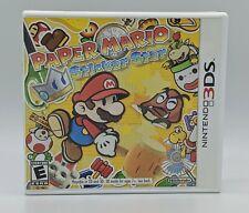 Paper Mario Sticker Star Nintendo 3Ds Game + Manual