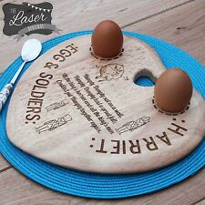 Egg Board Personalised Humpty Dumpty Heart Chopping Board/Plate Heart