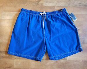 $46 ROUNDTREE & YORKE 2XT XXT blue swim trunks shorts swimwear