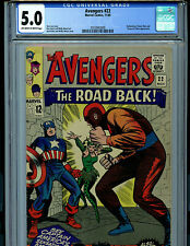 Avengers #22 CGC 5.0 Marvel Comics 1965 Kirby Heck Lee Amricons K20