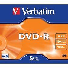 Verbatim 43519 DVD-R 4.7gb 16x Jewel Case 5t