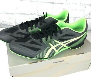 ASICS Men's Hyper MD 6 Track Running Shoes Charcoal Flash Green Box No Spikes 12