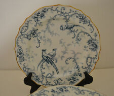BROWN WESTHEAD MOORE CAULDON SALAD PLATE - 8 WITH EXOTIC BIRDS FOR C.A.SALZER