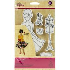 Prima Julie Nutting KELLY Doll Cling Stamps Cards Planner Tags 913014